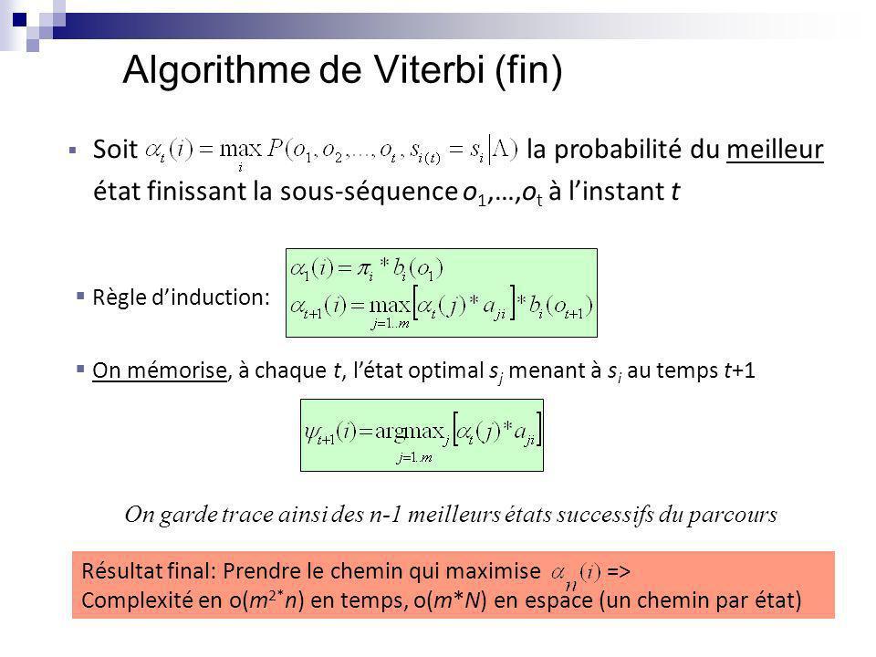 Algorithme de Viterbi (fin)