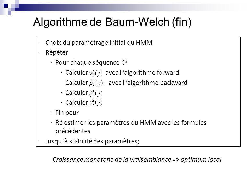 Algorithme de Baum-Welch (fin)