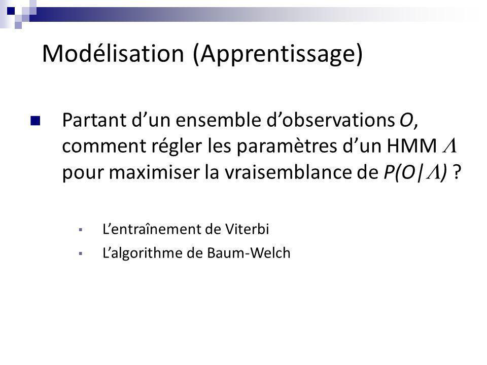 Modélisation (Apprentissage)