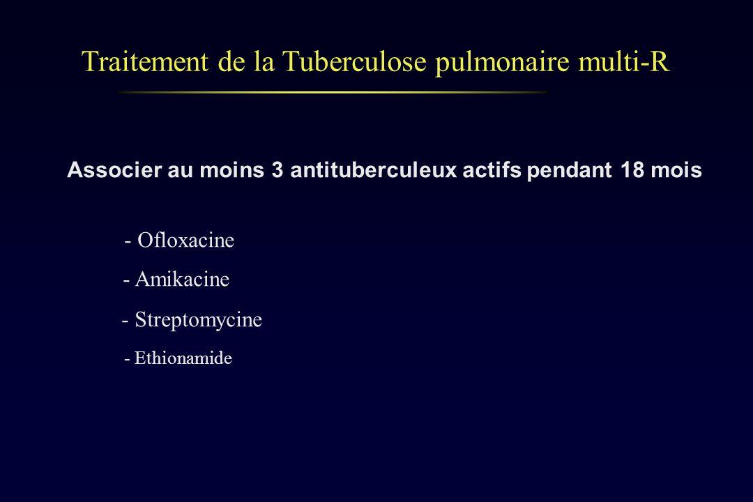 Traitement de la Tuberculose pulmonaire multi-R