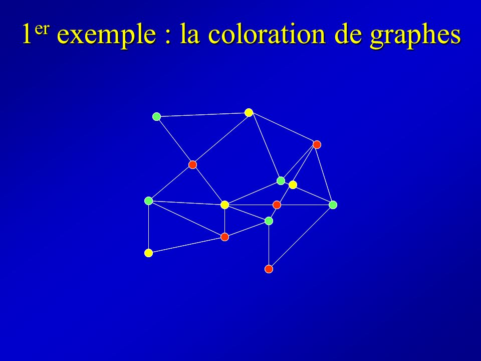 1er exemple : la coloration de graphes
