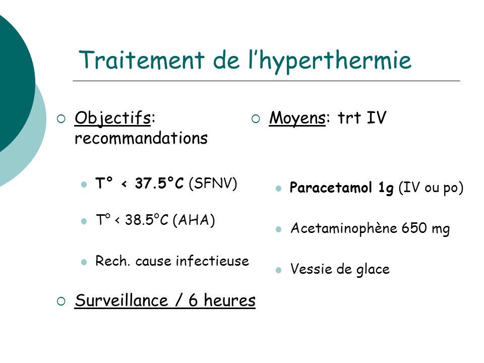 Traitement de l'hyperthermie