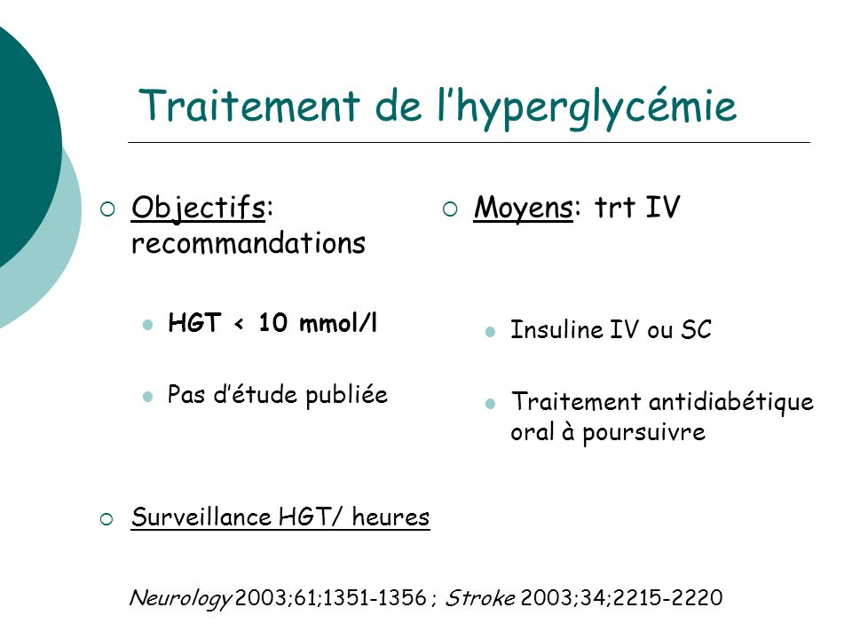 Traitement de l'hyperglycémie
