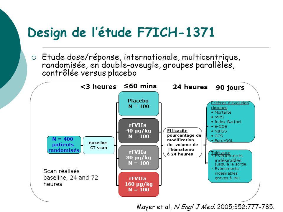 Design de l'étude F7ICH-1371