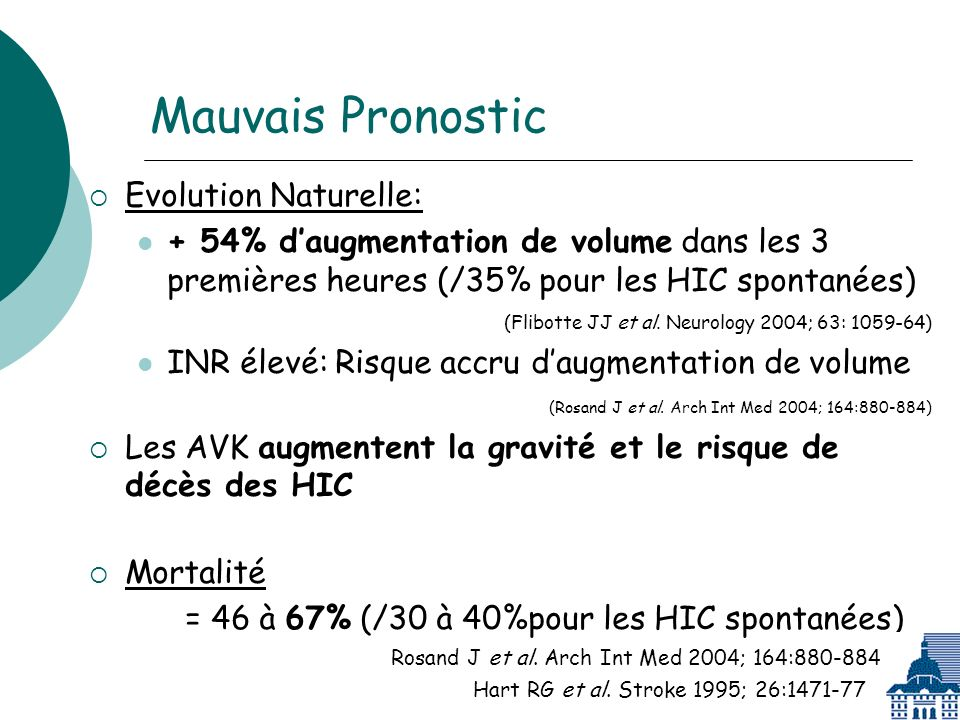 Mauvais Pronostic Evolution Naturelle: