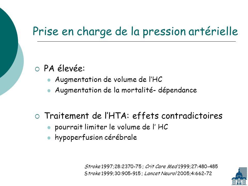 Prise en charge de la pression artérielle