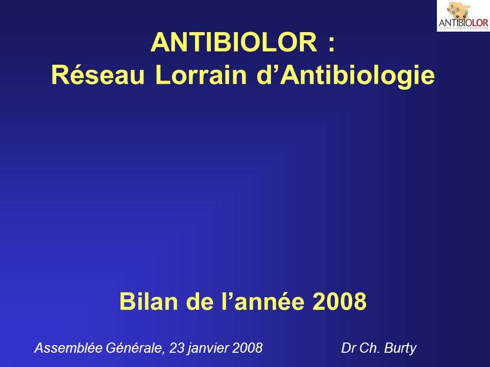 ANTIBIOLOR : Réseau Lorrain d'Antibiologie Bilan de l'année 2008