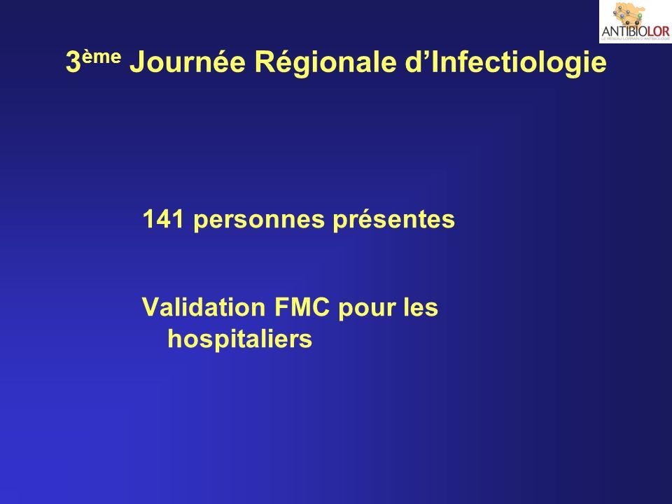 3ème Journée Régionale d'Infectiologie