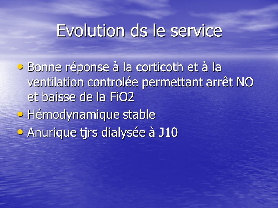 Evolution ds le service