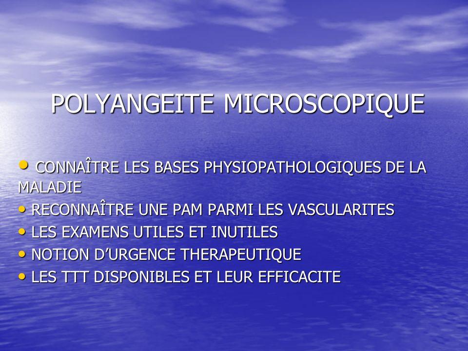 POLYANGEITE MICROSCOPIQUE