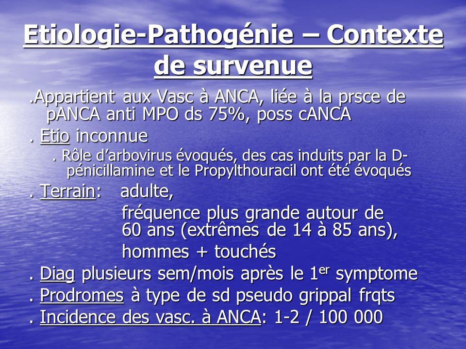 Etiologie-Pathogénie – Contexte de survenue