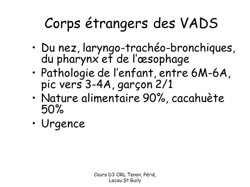 Corps étrangers des VADS