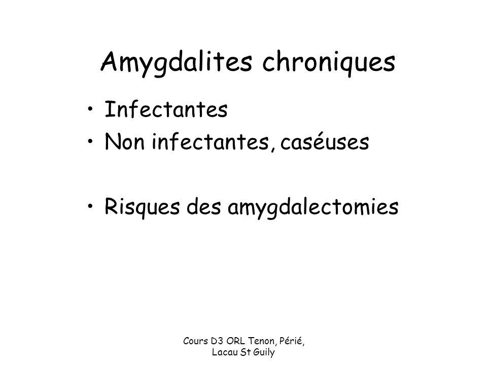 Amygdalites chroniques