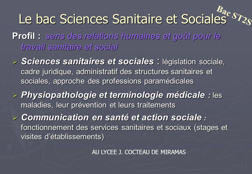 Le bac Sciences Sanitaire et Sociales