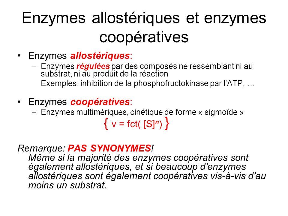 Enzymes allostériques et enzymes coopératives