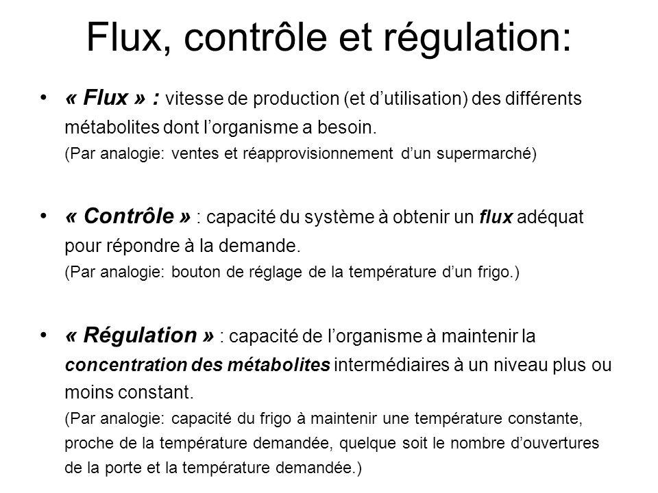 Flux, contrôle et régulation: