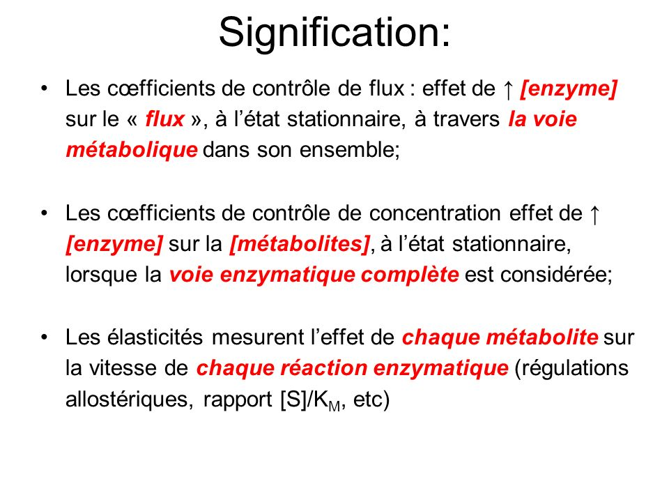 Signification: