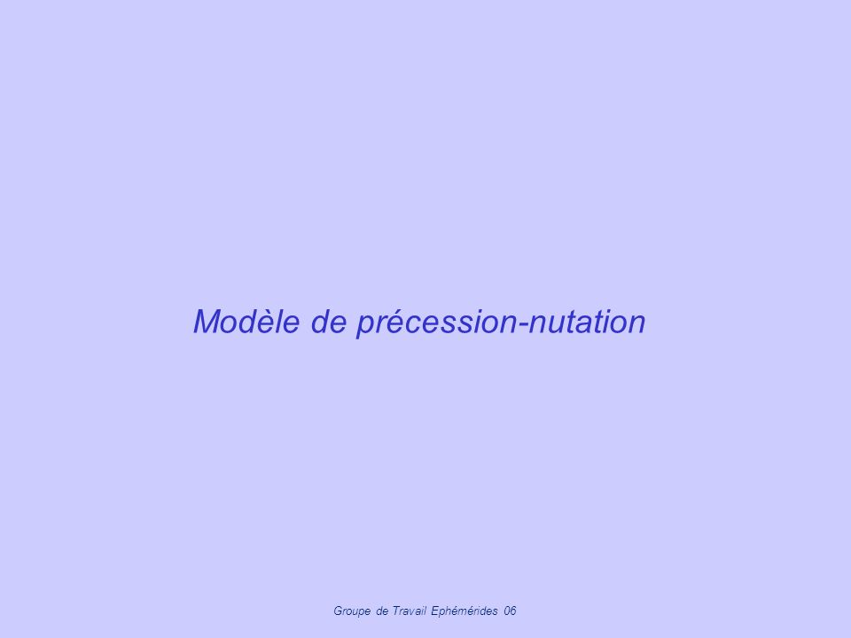 Modèle de précession-nutation