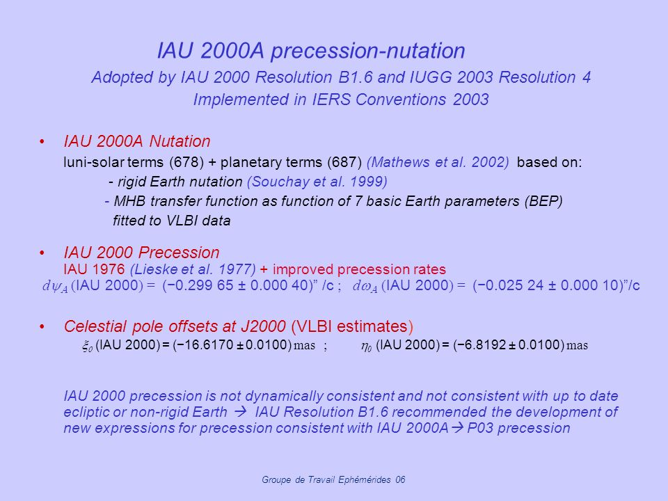 IAU 2000A precession-nutation