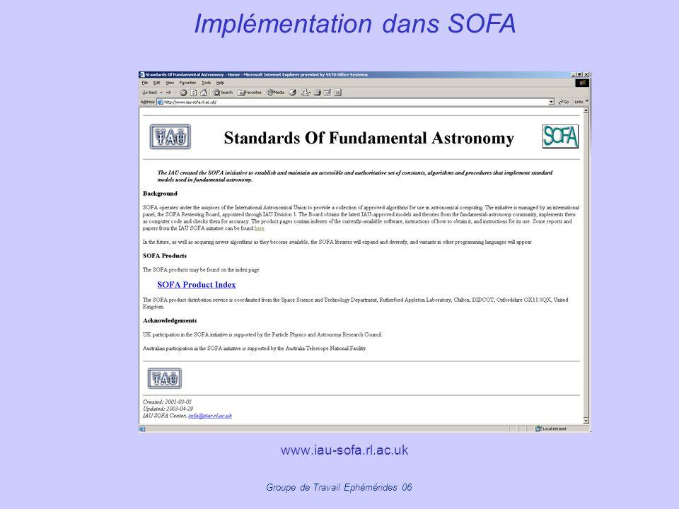 Implémentation dans SOFA