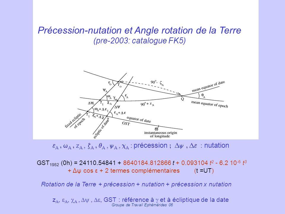 rrrrrr Précession-nutation et Angle rotation de la Terre (pre-2003: catalogue FK5)