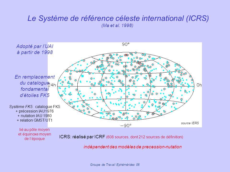 Le Système de référence céleste international (ICRS) (Ma et al. 1998)