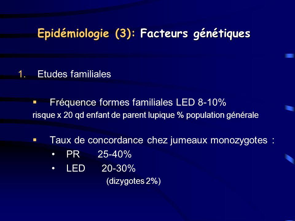 Epidémiologie (3): Facteurs génétiques