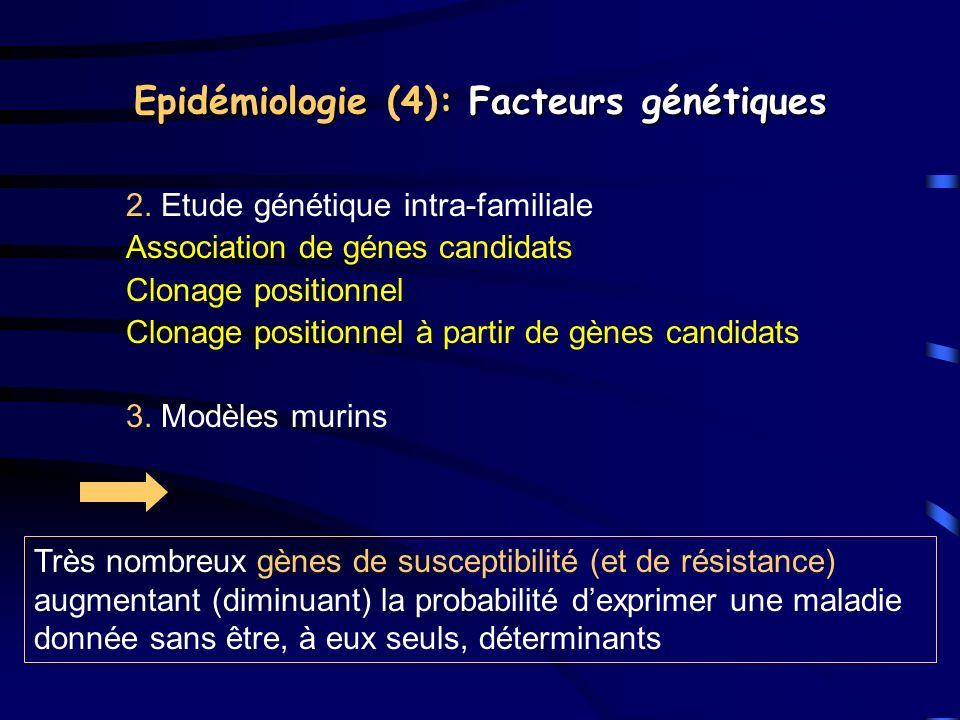 Epidémiologie (4): Facteurs génétiques