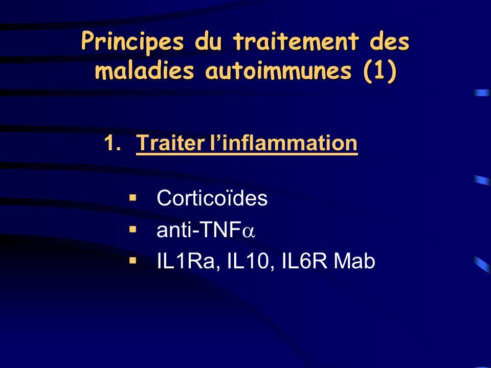 Principes du traitement des maladies autoimmunes (1)