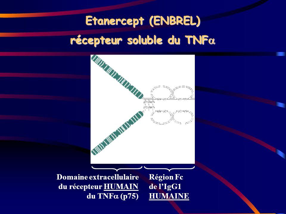 Etanercept (ENBREL) récepteur soluble du TNF