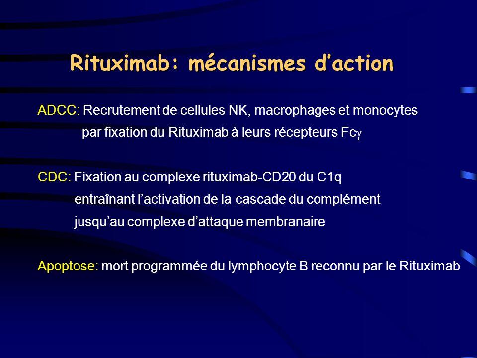 Rituximab: mécanismes d'action