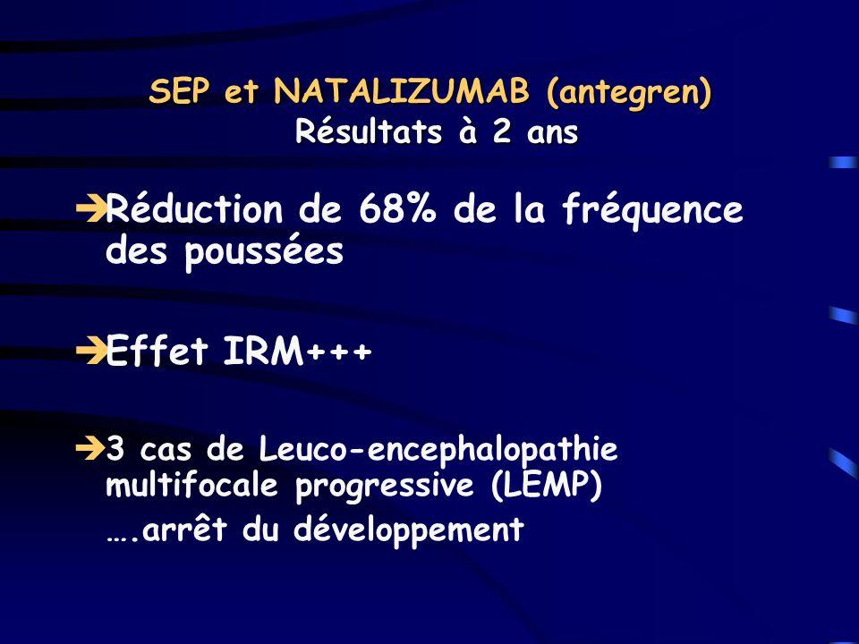 SEP et NATALIZUMAB (antegren) Résultats à 2 ans
