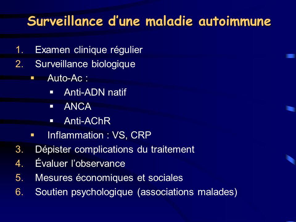 Surveillance d'une maladie autoimmune