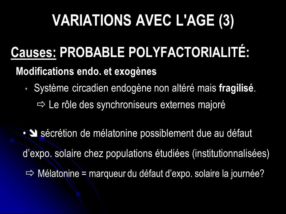 VARIATIONS AVEC L AGE (3)