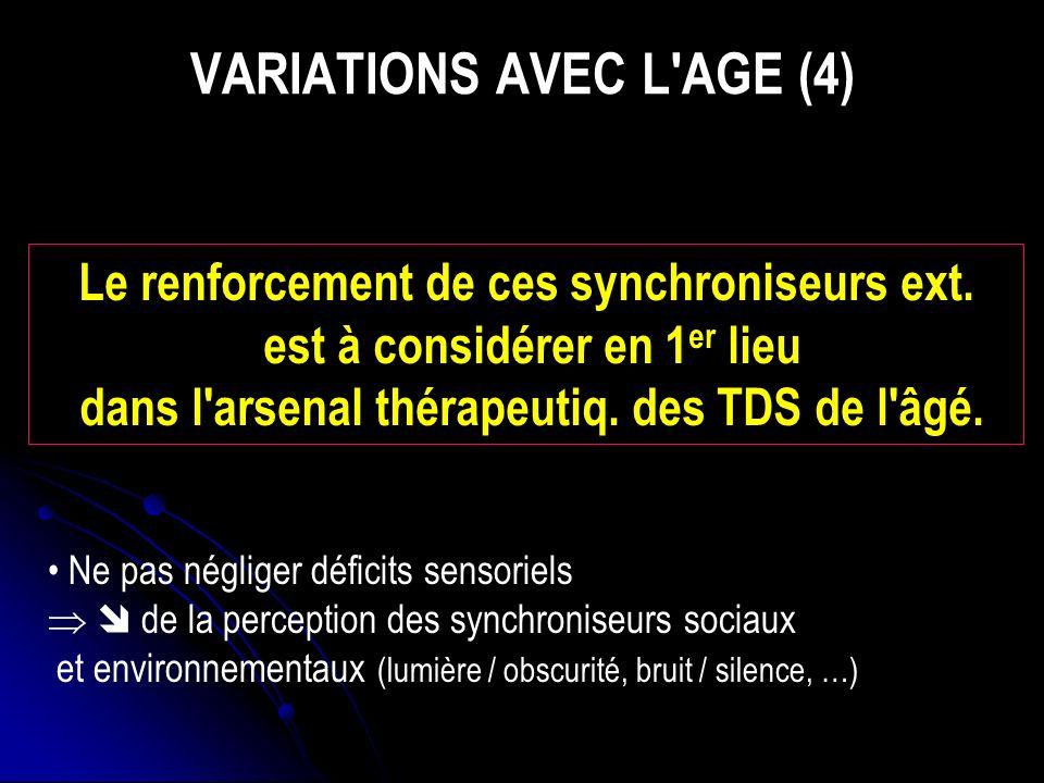 VARIATIONS AVEC L AGE (4)