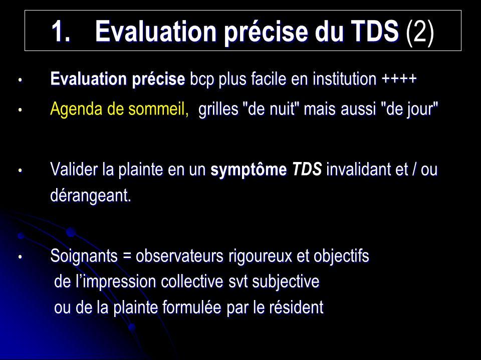 Evaluation précise du TDS (2)
