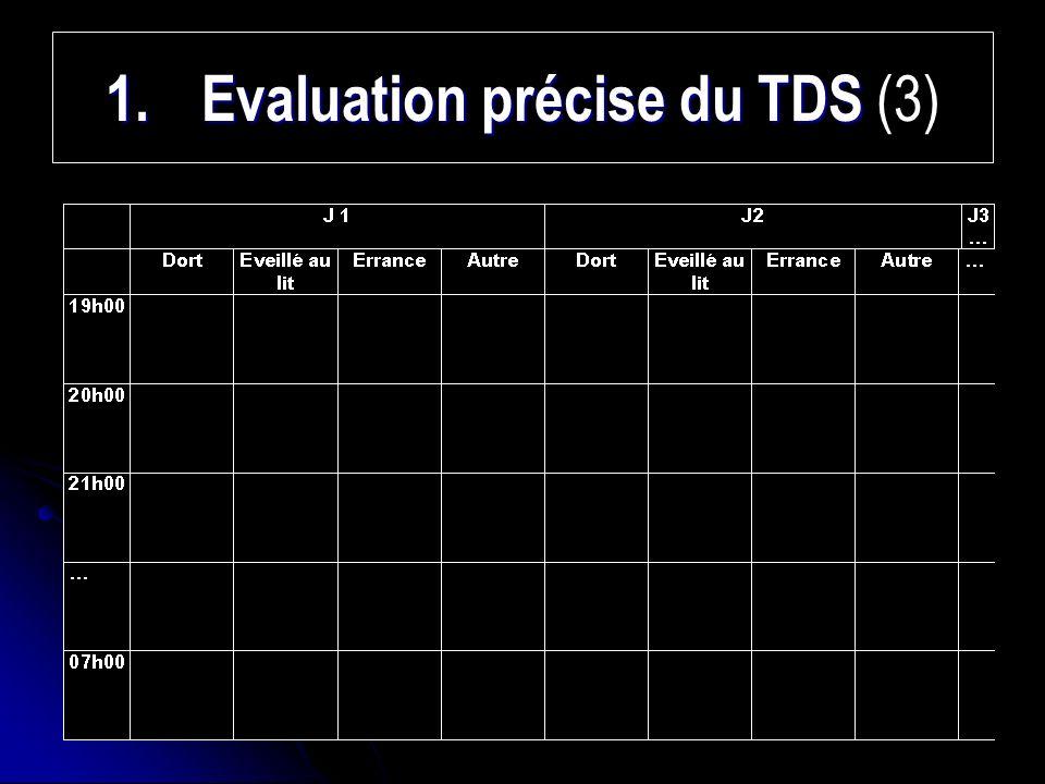 Evaluation précise du TDS (3)
