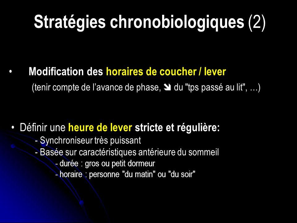 Stratégies chronobiologiques (2)