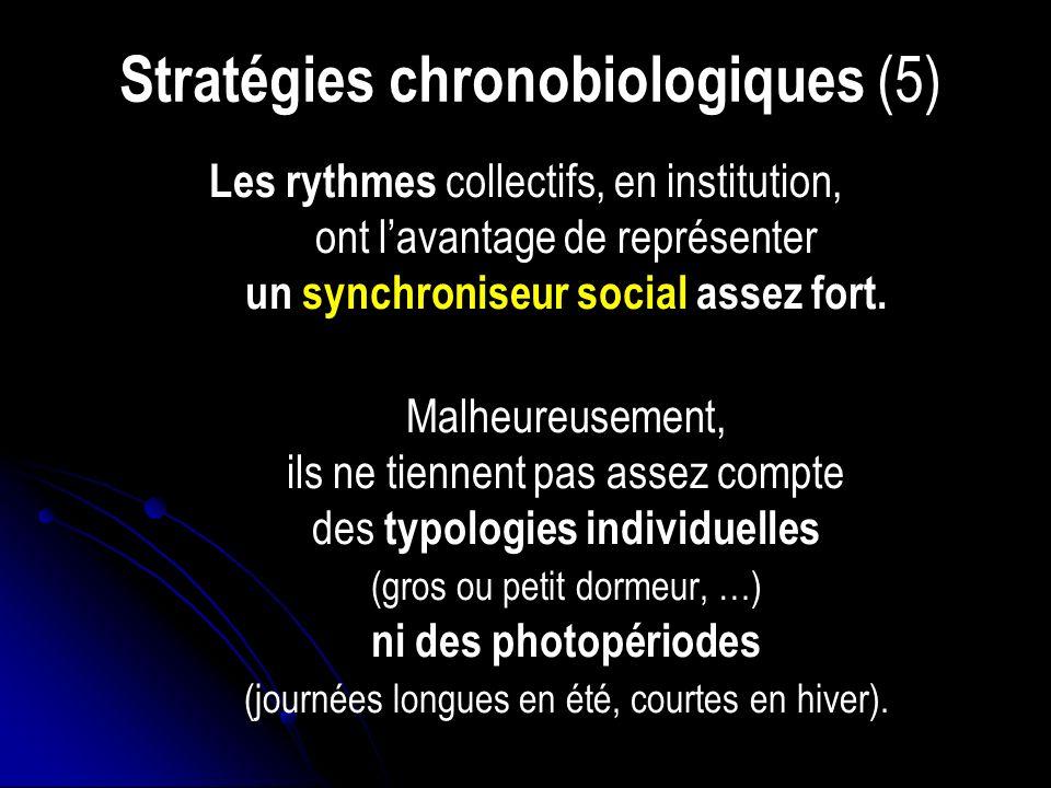 Stratégies chronobiologiques (5)