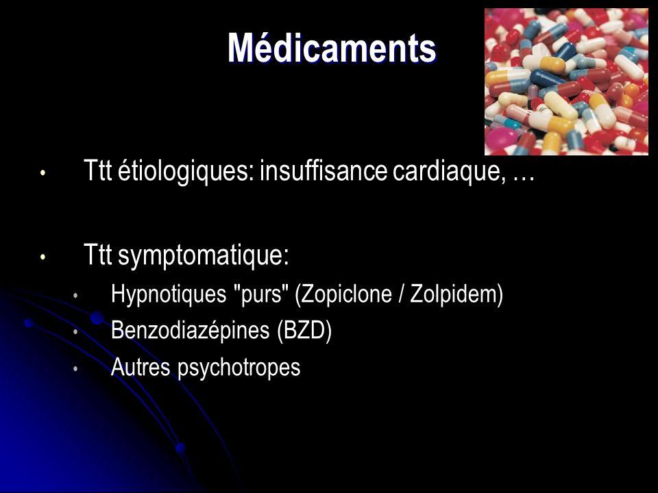 Médicaments Ttt étiologiques: insuffisance cardiaque, …