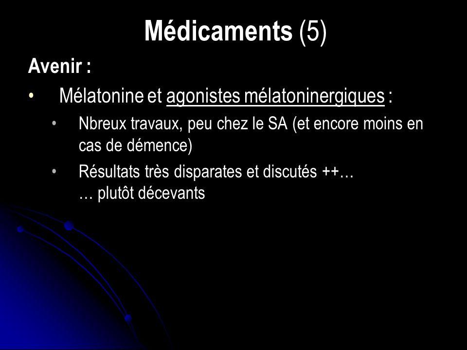 Médicaments (5) Avenir : Mélatonine et agonistes mélatoninergiques :