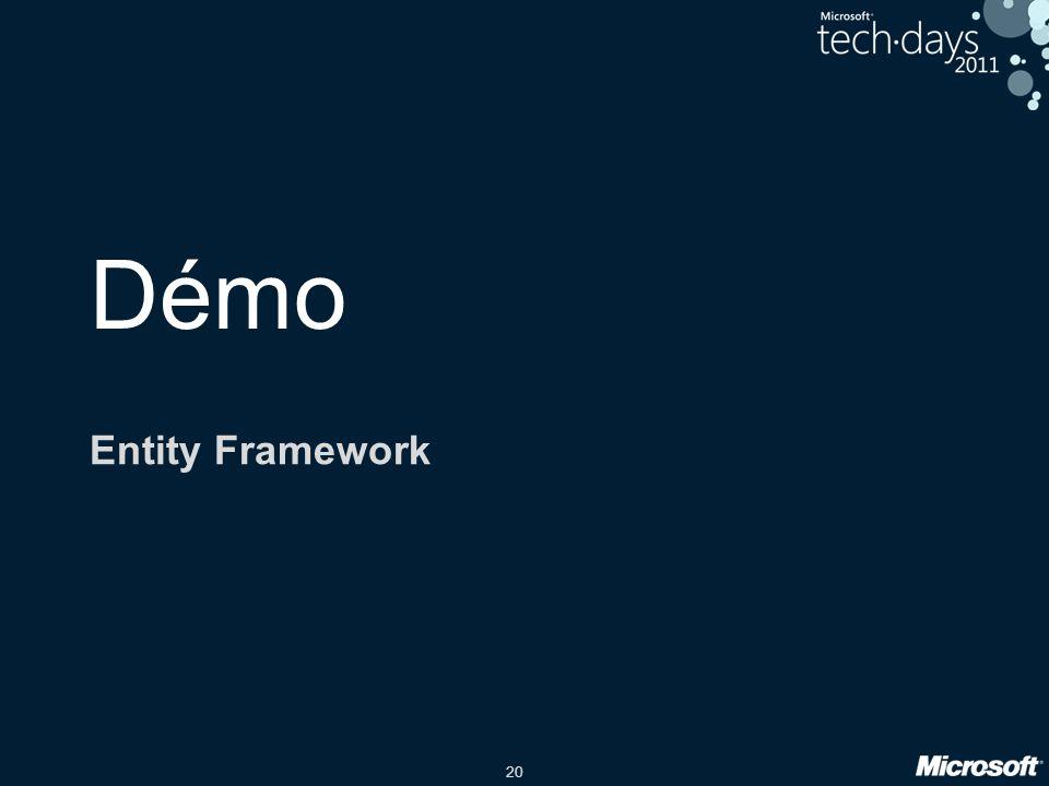 Démo Entity Framework