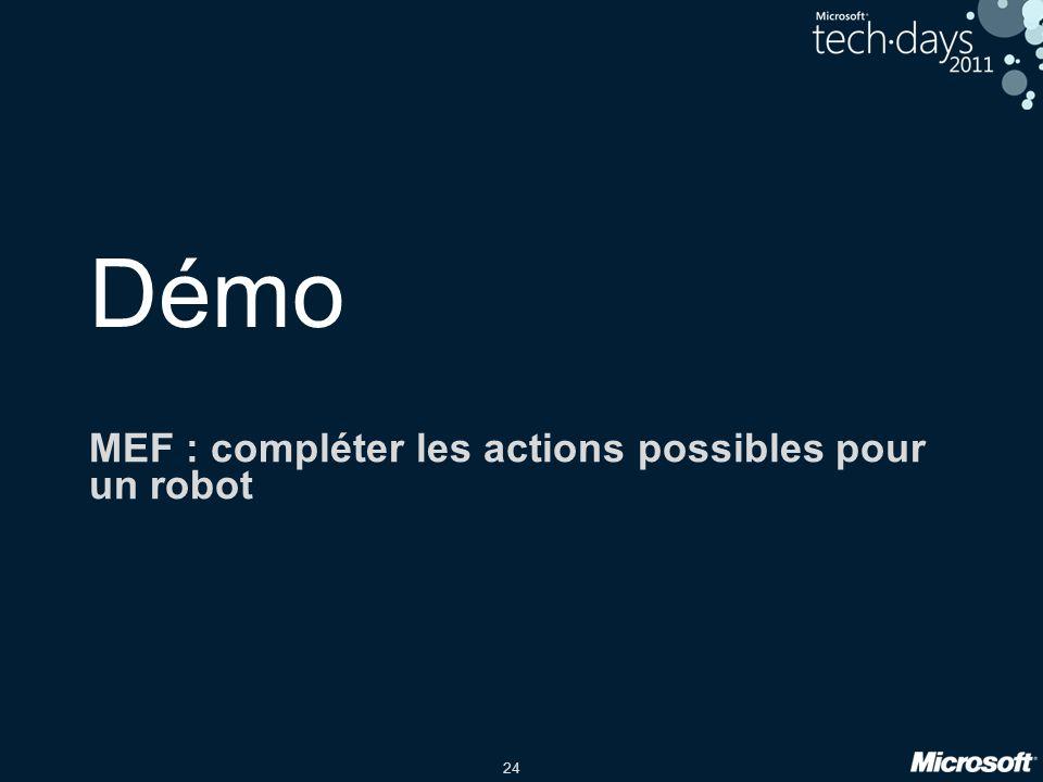 MEF : compléter les actions possibles pour un robot
