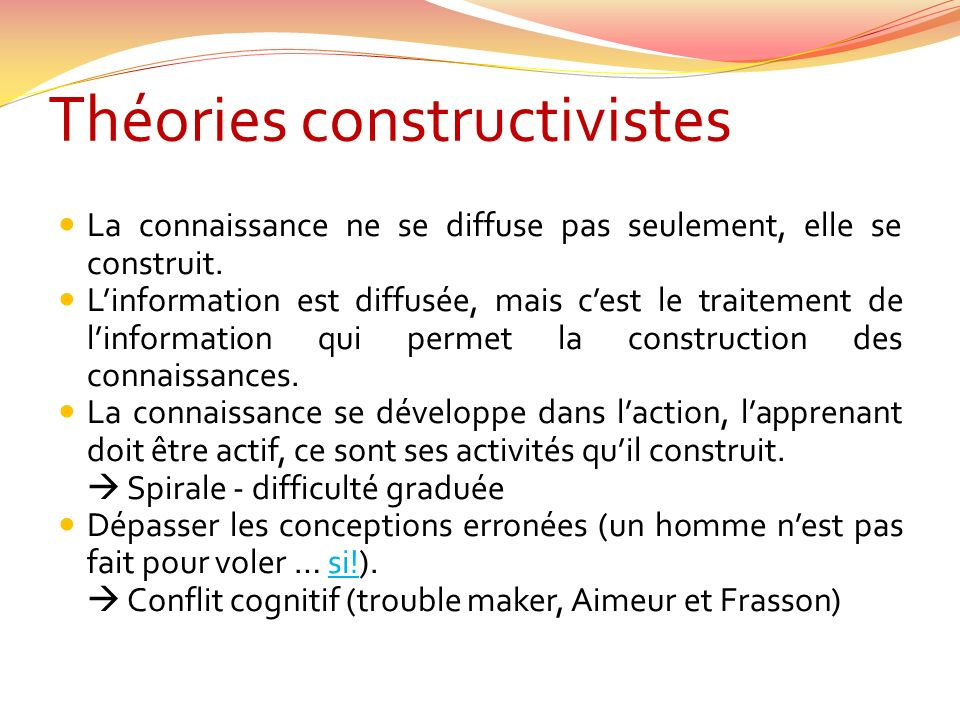 Théories constructivistes