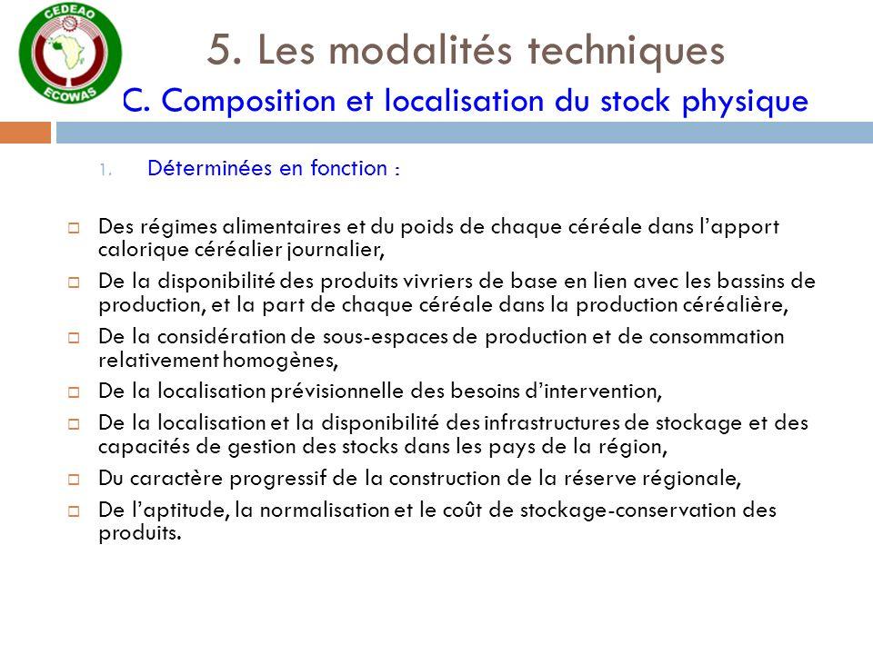 5. Les modalités techniques C