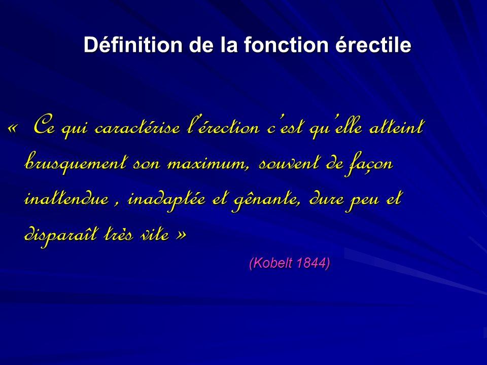 Définition de la fonction érectile