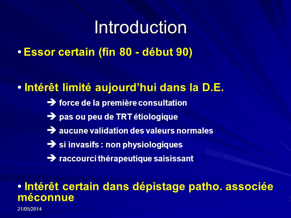 Introduction • Essor certain (fin 80 - début 90)