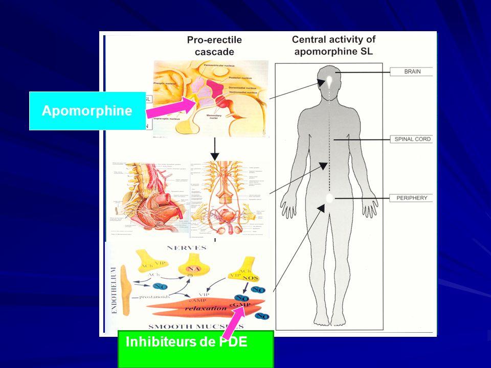 Apomorphine Inhibiteurs de PDE