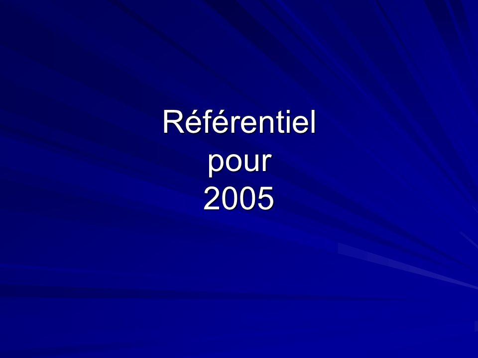 Référentiel pour 2005