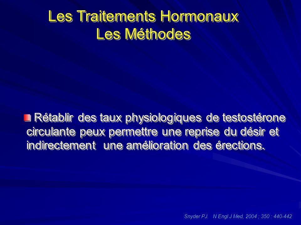 Les Traitements Hormonaux Les Méthodes